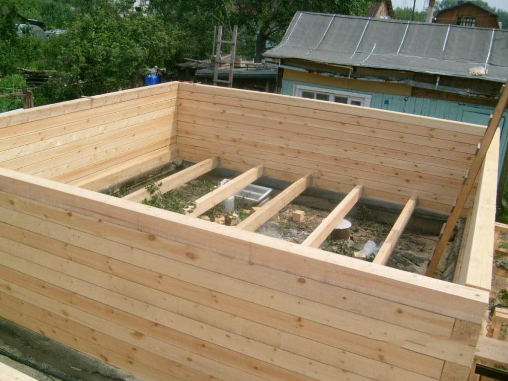 Строительство бани с бруса своими руками